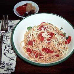 spaghetti mit sauce ohne kochen alla checca