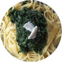 spaghetti mit spinat gorgonzola soße