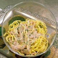 spaghetti mit thunfisch schnittlauch sauce