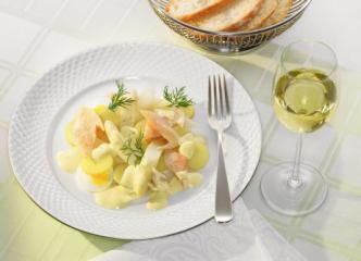 spargel kartoffel salat mit geräucherter schwarzwaldforelle