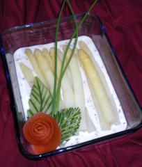 spargel mit gorgonzolasauce