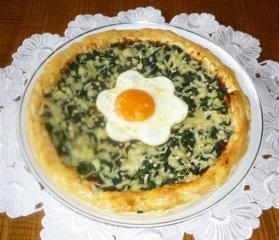 spinat pizza mit spiegelei im flavorwave oven gebacken