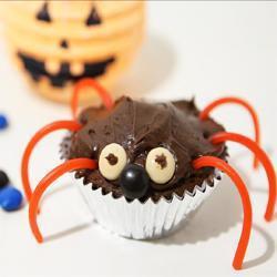 spinnen muffins für halloween