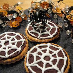spinnennetz kekse