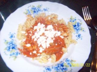 spiralnudel mit tomatensoße