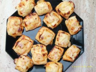 süß scharfe chili käse teilchen