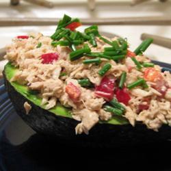tapas mit avocado und thunfisch