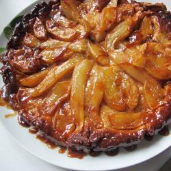 tarte tatin mit birnen und Äpfeln