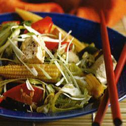 thai gemüse mit pak choi und tofu