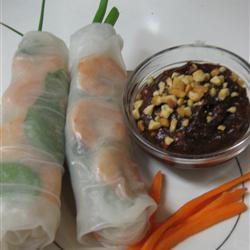 thai glückssrollen mit garnelen und schweinefleisch