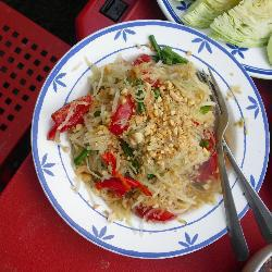 thailändischer salat mit grünen papayas