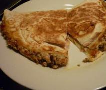 tofu paprika champignon quesadilla