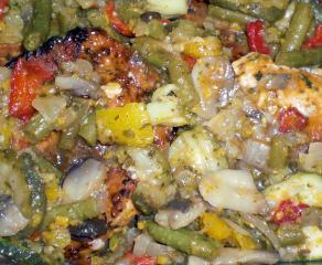 tomate mix salat mediterraner art