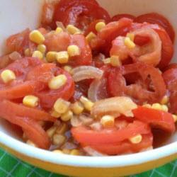 tomaten mais salat