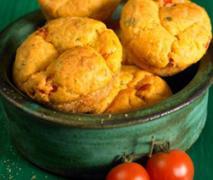 tomaten mozzarella muffins