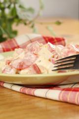 tomaten zwiebel salat mit gouda