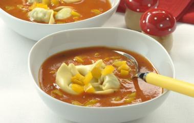 tomatensuppe mit pastakick