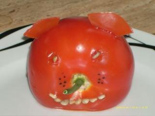 tomatentierchen dekoration für gemüseplatten