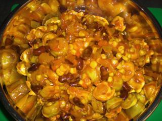tortellinisalat mit mais und kidneybohnen