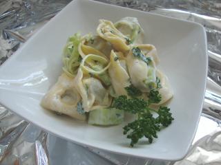 tortelloni artischocken salat mit ricottadressing