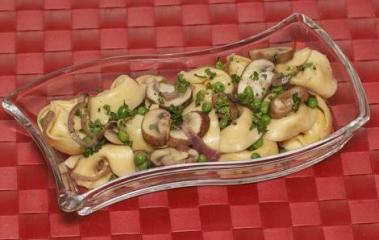 tortelloni champignons salat