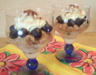 trauben schicht dessert