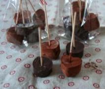 trinkschokolade am stiel geschenk aus der küche