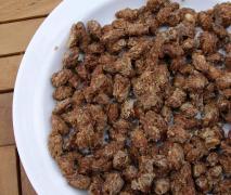 variation von gebrannte mandeln nachbrenner mand