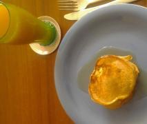 vegane vollkorn bananen pancakes