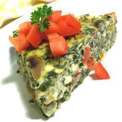vegatarische quiche mit pilzen und spinat