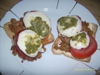 vegetarische frikadellen amp quot italia amp quot auf toast