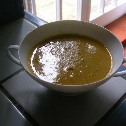 vegetarische grünkernsuppe