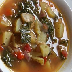vegetarische grünkohlsuppe