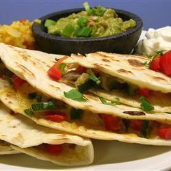 vegetarische quesadillas mit gemüse