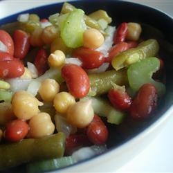 vegetarischer drei bohnen salat