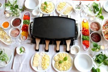 vier verschiedene raclettes