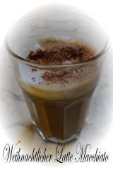 weihnachtlicher latte macchiato