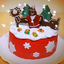 weihnachtstorte mit deko