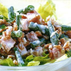 weizen bohnen salat mit schinken und meerrettich