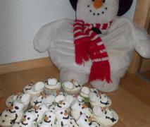 winter muffins schneemänner