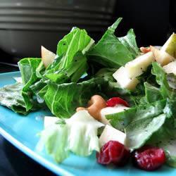 wintersalat mit obst und zitronen mohn dressing