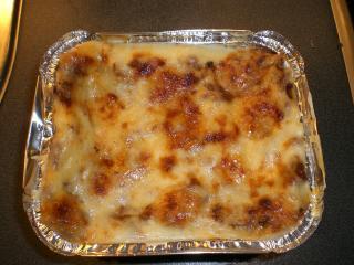 würzige lasagne mit faschiertem und champignons