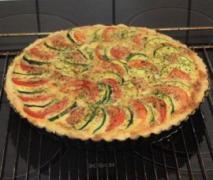 zucchini tomaten quiche