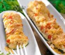 zucchinischiffchen mit bulgur
